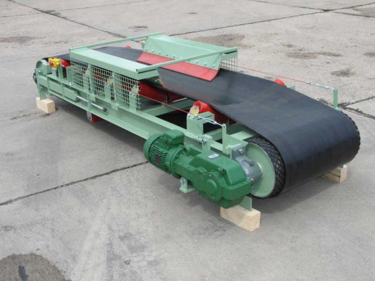 Reversierband mit Muldung und mittiger Aufgabestation und Stiebel Getriebemotor