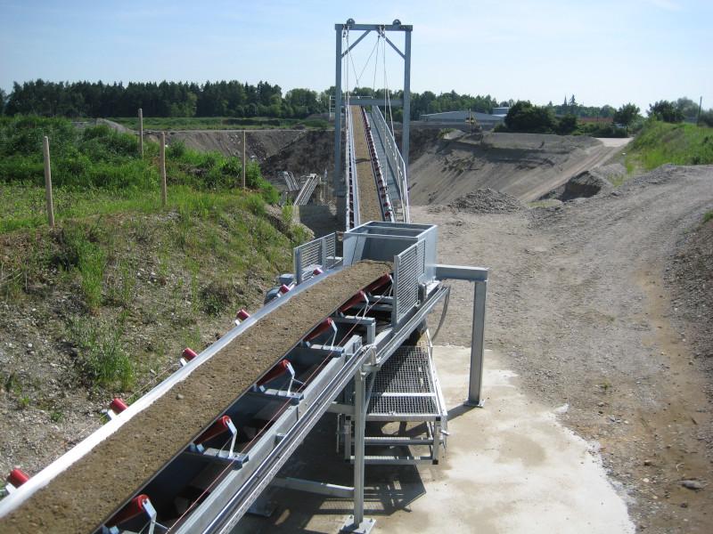Landband Übergabestation Gurtbreite 800 mm